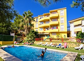 Holiday apartments with pool and garden. Rental holiday apartments Benidorm, Costa Blanca